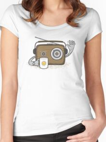 Radio Waves Good Morning Women's Fitted Scoop T-Shirt