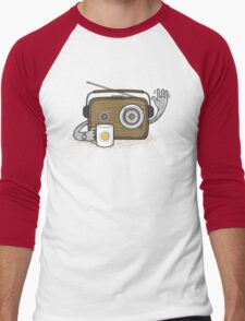 Radio Waves Good Morning Men's Baseball ¾ T-Shirt