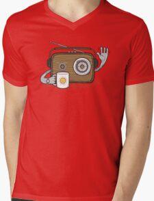 Radio Waves Good Morning Mens V-Neck T-Shirt