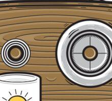 Radio Waves Good Morning Sticker