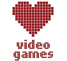 Video Game Love Photographic Print