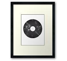 Scratched Record Framed Print