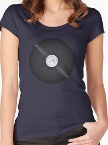 Scratched Record Women's Fitted Scoop T-Shirt