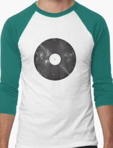 Scratched Record Men's Baseball ¾ T-Shirt