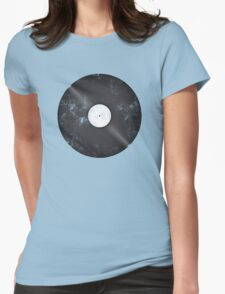 Scratched Record Womens Fitted T-Shirt