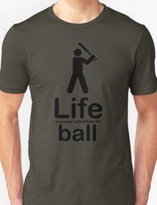 Ball v Life - Black Graphic T-Shirt