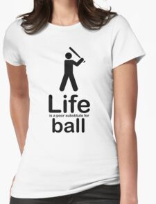 Ball v Life - Black Graphic Womens Fitted T-Shirt