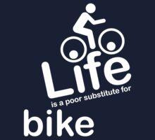 Bike v Life - White Graphic Kids Tee