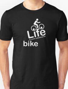 Bike v Life - White Graphic Unisex T-Shirt