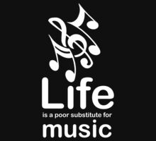 Music v Life - White Graphic Kids Clothes