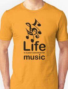 Music v Life - Black Graphic Unisex T-Shirt