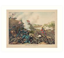 Civil War Battle of Franklin by Kurz & Allison November 30 1864 Art Print