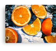 Still Life with Blue and White Chintz.. Canvas Print