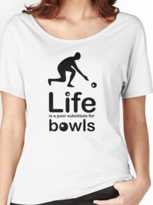 Bowls v Life - Black Graphic Women's Relaxed Fit T-Shirt