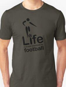 Soccer v Life - Black Graphic T-Shirt