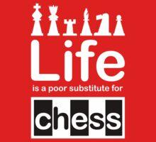 Chess v Life - White Graphic Kids Clothes