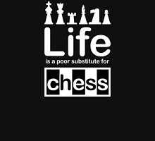 Chess v Life - White Graphic Womens Fitted T-Shirt