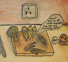 Veggies Vs. Meat-Veggies Have Feelings Too by MichaelMcCallum