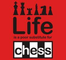 Chess v Life - Black Graphic Kids Clothes