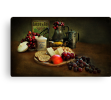 Cheese and Crackers.! Canvas Print