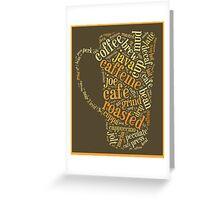 Coffee Lovers Word Cloud Greeting Card