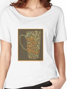 Coffee Lovers Word Cloud Women's Relaxed Fit T-Shirt