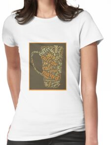Coffee Lovers Word Cloud Womens Fitted T-Shirt