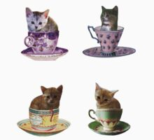 Kittens In Cups Stickers by CitC