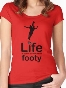 AFL v Life - Black Graphic Women's Fitted Scoop T-Shirt