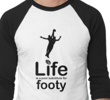 AFL v Life - Black Graphic Men's Baseball ¾ T-Shirt