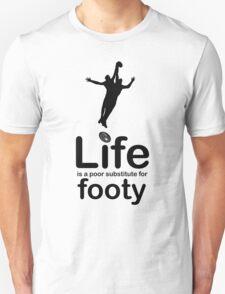 AFL v Life - Black Graphic Unisex T-Shirt