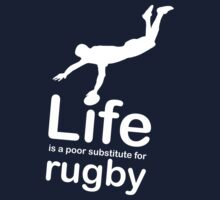 Rugby v Life - White Graphic Kids Clothes