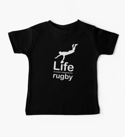 Rugby v Life - White Graphic Baby Tee