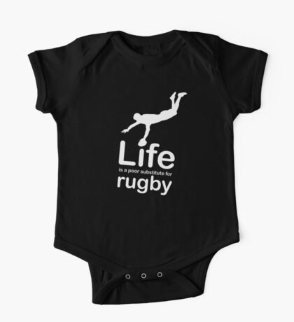 Rugby v Life - White Graphic One Piece - Short Sleeve