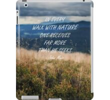 Walk with nature 2 iPad Case/Skin