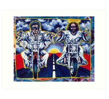 'Elvis & Jesus Hit the Road' Art Print