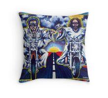 'Elvis & Jesus Hit the Road' Throw Pillow