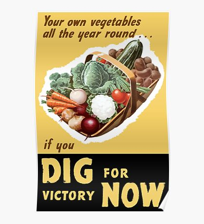 Dig For Victory Now -- WWII Poster