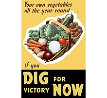 Dig For Victory Now -- WWII Photographic Print