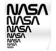 NASA Logotype from the Graphics Standards Manual Poster