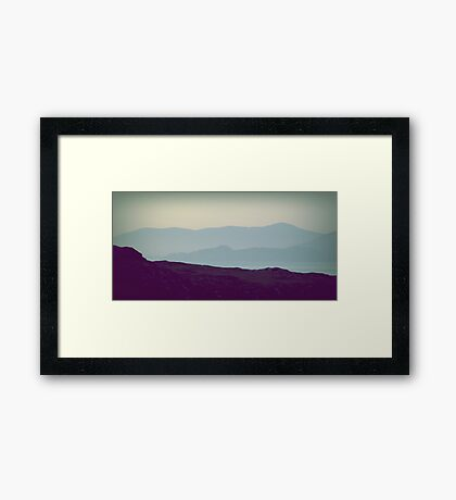 misty hills Framed Print