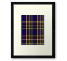 00432 Anthony Plaid Blue Tartan  Framed Print