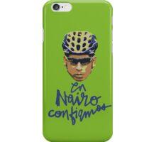 En Nairo Confiamos / In Nairo We Trust (Spanish) : Illustration on Movistar Green iPhone Case/Skin