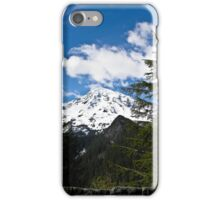 Mt. Rainier from a distance - Mt. Rainier in Washington state iPhone Case/Skin