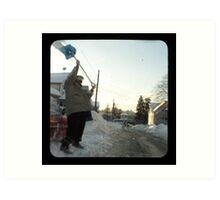 snow thrower Art Print