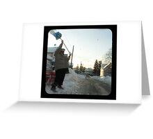 snow thrower Greeting Card