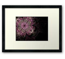 Pink and Black Flower Framed Print