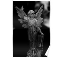 Angel in black an white Poster