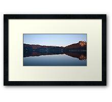 View across Lake Bled Framed Print