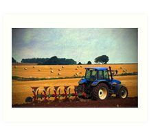A rural scene, Gloucestershire, UK Art Print